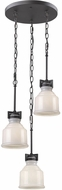 Artcraft AC10503BK Franklin Black Multi Drop Lighting