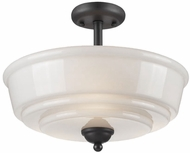 Artcraft AC10509BK Franklin Black Flush Lighting