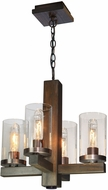 Artcraft AC10544BU Jasper Park Contemporary Bronze Mini Hanging Chandelier