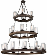 Artcraft AC10564BU Jasper Park Contemporary Brunito Bronze Chandelier Light