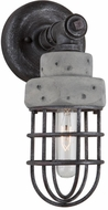 Artcraft AC10671 Loft Retro Slate and Grey Wall Sconce