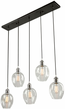 Artcraft AC10735PN Clearwater Modern Polish Nickel & Black Multi Hanging Lamp
