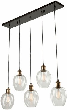 Artcraft AC10735VB Clearwater Contemporary Vintage Brass Multi Hanging Light