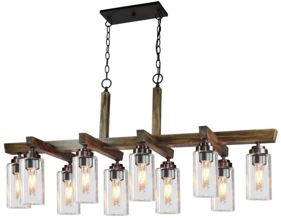 Artcraft ac10860dp home glow distressed pine kitchen island light fixture loading zoom