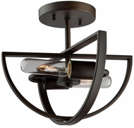 Artcraft AC10882OB Newport Contemporary Oil Rubbed Bronze Ceiling Light
