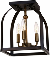Artcraft AC11012 Worthington Oil Rubbed Bronze & Antique Gold Ceiling Light Fixture