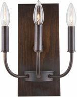 Artcraft AC11053BU Aberdeen Contemporary Brunito Bronze & Light Wood Light Sconce