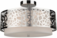 Artcraft AC11066CH Bayview Contemporary Chrome & White Ceiling Lighting Fixture