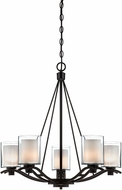 Artcraft AC1135OB Andover Contemporary Oil Rubbed Bronze Halogen Chandelier Light