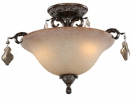 Artcraft AC1462 Vienna Bronze Flush Ceiling Light Fixture