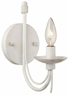 Artcraft AC1481AW Wrought Iron Antique White Wall Light Sconce