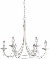 Artcraft AC1486AW Wrought Iron Antique White Chandelier Light