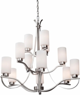 Artcraft AC1590PN Russell Hill Polished Nickel Chandelier Lamp