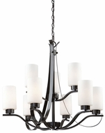 Artcraft AC1599OB Russell Hill Oil Rubbed Bronze Hanging Chandelier