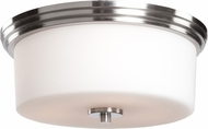 Artcraft AC2193PN Russell Hill Polished Nickel Flush Lighting