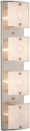 Artcraft AC3334 Brentwood Modern Brushed Nickel Halogen 4-Light Bathroom Wall Sconce