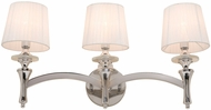 Artcraft AC3833 Contempra Chrome 3-Light Bathroom Light Sconce