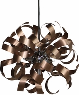 Artcraft AC600CO Bel Air Contemporary Brushed Copper & Chrome Halogen 18  Pendant Lamp