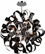 Artcraft AC601BK Bel Air Contemporary Black Halogen 24  Hanging Light