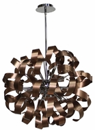 Artcraft AC601CO Bel Air Contemporary Brushed Copper & Chrome Halogen 24  Pendant Lighting Fixture