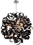 Artcraft AC602BK Bel Air Contemporary Black Halogen 34  Hanging Pendant Light