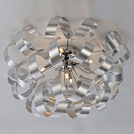 Artcraft AC605 Bel Air Modern Brushed Nickel & Chrome Halogen Ceiling Light