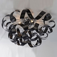 Artcraft AC605BK Bel Air Contemporary Black Halogen Ceiling Light Fixture