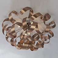 Artcraft AC605CO Bel Air Contemporary Brushed Copper & Chrome Halogen Ceiling Light Fixture