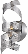 Artcraft AC623CH Bel Air Contemporary Chrome Mesh Leaves Halogen Sconce Lighting