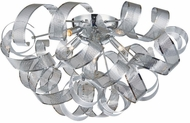 Artcraft AC625CH Bel Air Contemporary Chrome Mesh Leaves Halogen Ceiling Lighting Fixture
