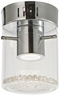 Artcraft AC7011 Belmont Chrome LED Flush Mount Lighting