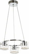 Artcraft AC7013 Belmont Chrome LED Mini Chandelier Light
