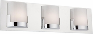 Artcraft AC7223CH Rialto Modern Chrome LED 3-Light Bath Lighting