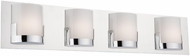 Artcraft AC7224CH Rialto Contemporary Chrome LED 4-Light Bathroom Light