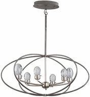 Artcraft AC7456 Kingsford Contemporary Slate & Brushed Nickel LED Chandelier Light