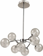 Artcraft AC7488CH Nightstar Contemporary Chrome LED 30  Chandelier Lamp