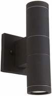 Artcraft AC8002BK Nuevo Contemporary Black Halogen Exterior Wall Lighting