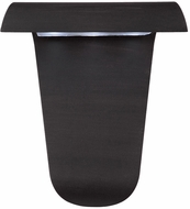 Artcraft AC9031BK Fontana Contemporary Black LED Exterior Wall Sconce Lighting