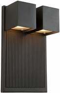 Artcraft AC9032BK Fontana Contemporary Black LED Exterior Lighting Wall Sconce