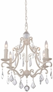 Artcraft CL1574AW Vintage Antique White Mini Lighting Chandelier