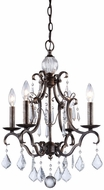 Artcraft CL1574DB Vintage Dark Bronze Mini Chandelier Lamp