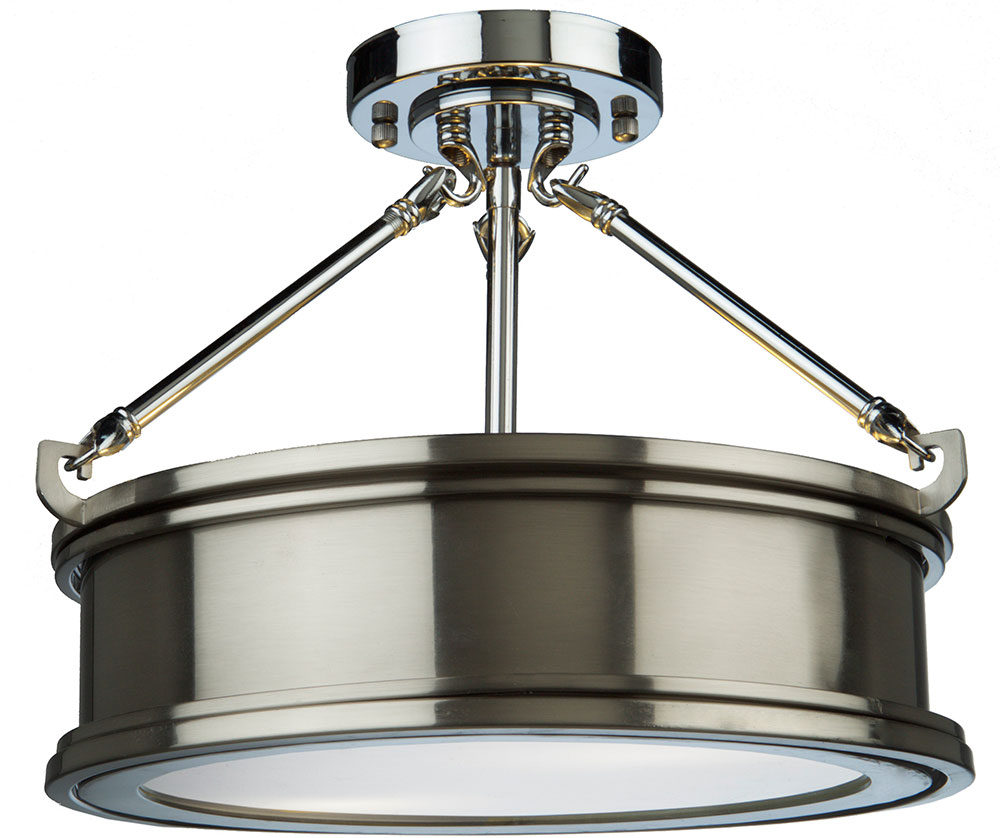 Artcraft sc13042bn eastwick modern brushed chrome flush ceiling artcraft sc13042bn eastwick modern brushed chrome flush ceiling light fixture loading zoom aloadofball Choice Image