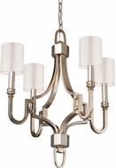Artcraft SC1564WS Lexington Silver Leaf Mini Chandelier Lamp