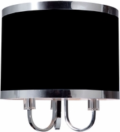 Artcraft SC433BK Madison Modern Black Flush Ceiling Light Fixture