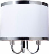 Artcraft SC433WH Madison Contemporary White Flush Mount Ceiling Light Fixture