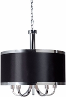 Artcraft SC435BK Madison Modern Black Drum Lighting Pendant