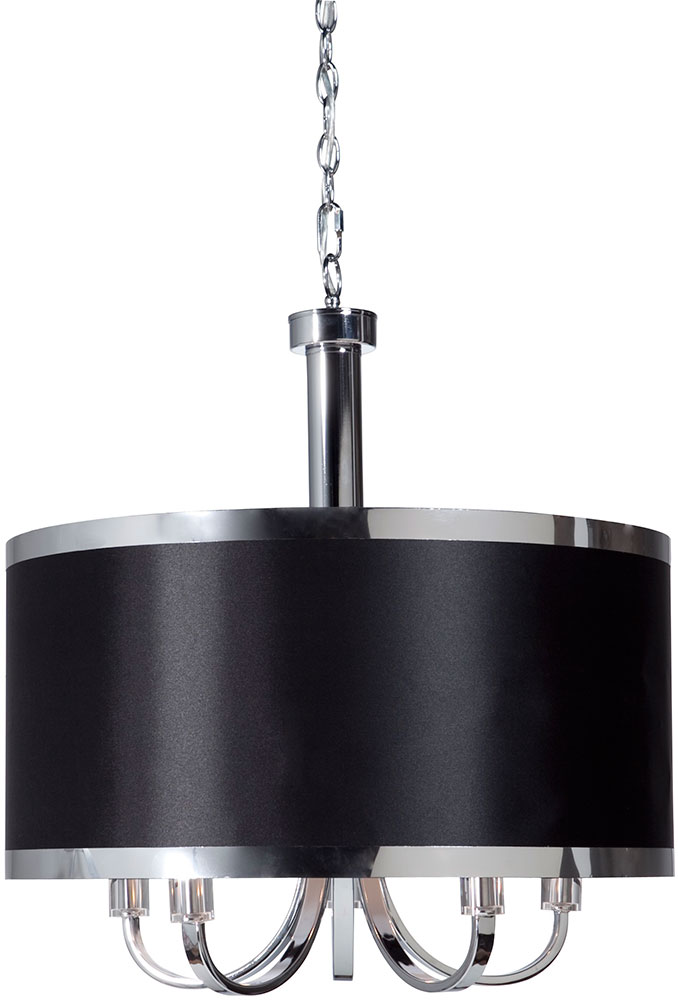 Artcraft Sc435bk Madison Modern Black Drum Lighting