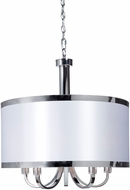 Artcraft SC435WH Madison Contemporary White Drum Pendant Lamp
