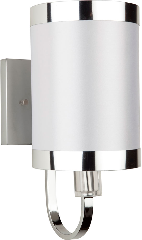 Modern White Wall Sconces : Artcraft SC437WH Madison Contemporary White Wall Lighting Sconce - ART-SC437WH
