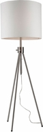 Artcraft SC589WH Mercer Street Contemporary Brushed Nickel Floor Lamp Light